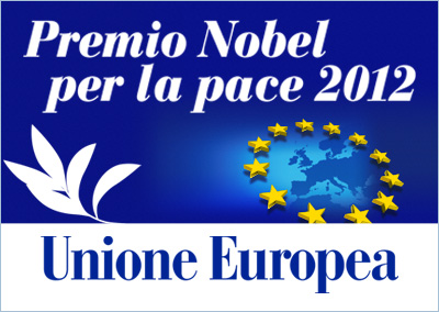 "Folder filatelico ""Premio Nobel per la pace 2012 all'Unione Europea"""