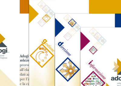 Logo e Brochure a schede creata per Adogi – Soluzioni per le imprese
