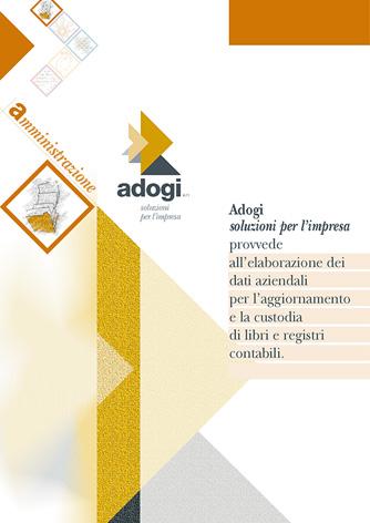 Scheda brochure Adogi - Biancolapis - Design per la Comunicazione