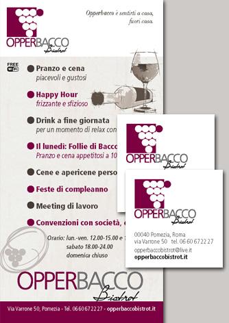 Brand Identity e sito web per Opperbacco Bistrot - Biancolapis - Design per la Comunicazione
