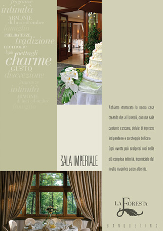 Brochure ristorante La Foresta - pagina interna