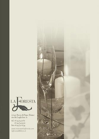 Brochure ristorante La Foresta - pagina retro