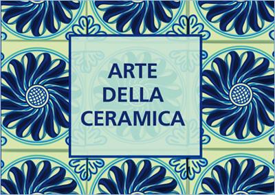 Folder filatelico L'arte della Ceramica