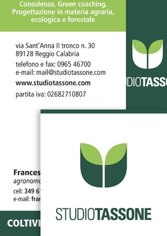 Biglietti da visita Studio Tassone - Biancolapis - Design per la Comunicazione