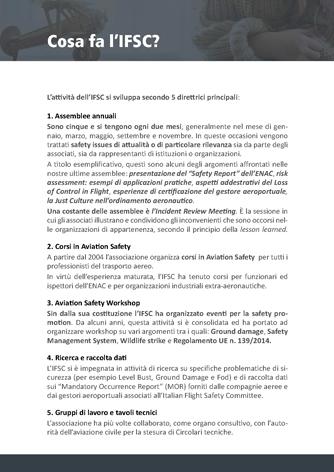 Brochure Istituzionale IFSC pagina - Biancolapis - Design per la Comunicazione