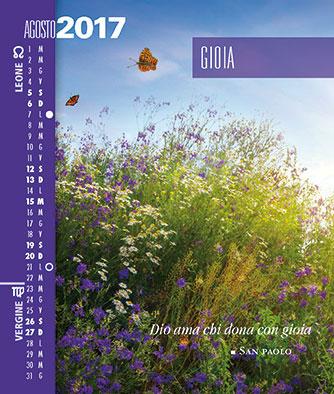 Calendario SegniSimboliParole 2017 Agosto