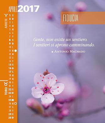 Calendario Segni.Calendari Biancolapis Design