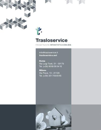 Brochure impresa edile Trasoloservice Copertina retro