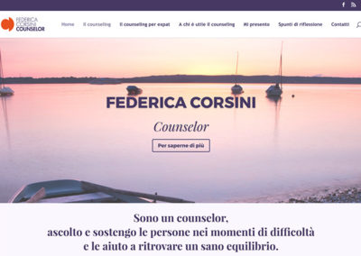 Sito web Federica Corsini Counselor
