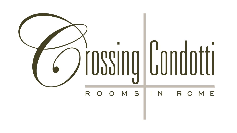 Logo Crossing Condotti. Biancolapis - Design per la Comunicazione
