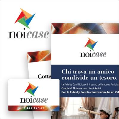 NoiCase. Brand Identity - Biancolapis - Design della comunicazione