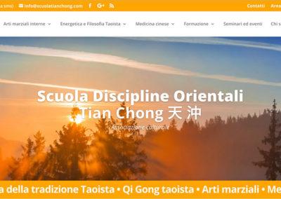 Sito web per la Scuola Discipline Orientali Tian Chong